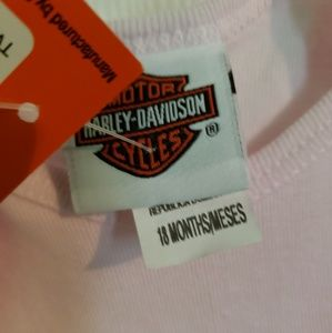 Harley-Davidson One Pieces - Nwt Harley Davidson 'Two Things Onsie' size 18M